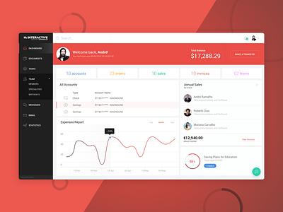 Hi Dashboard crm user management chart internal clean ui dashboard