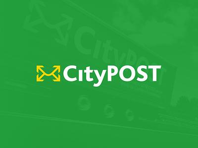 CityPOST enterprise post sticker van logo
