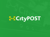 CityPOST enterprise post sticker van logo