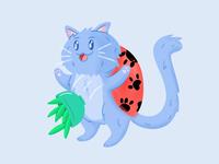 Catbug catbug bravest warriors pet pets fanart purple blue vector illustration vector cute bug cat
