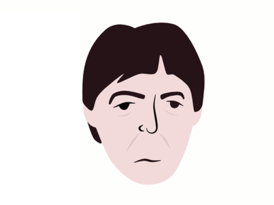 Paul editorial illustration portraiture portrait beatles paul mccartney
