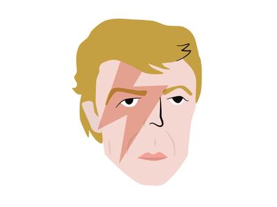 Bowie mars stardust ziggy lightning bolt portraiture portrait bowie david