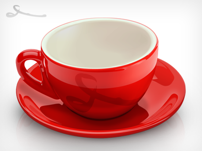 red coffee cup by josua dribbble