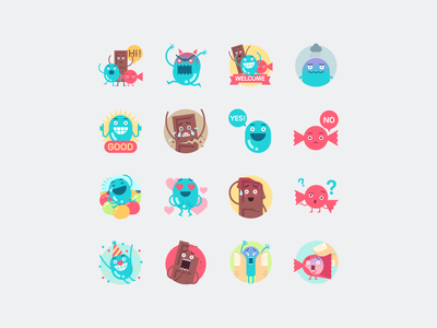More Candies emoji character candies candy