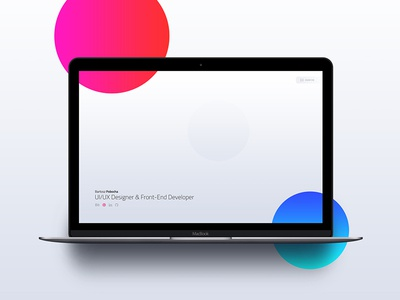 🏀 Personal site - Header idea webdesign web minimalistic ux ui minimal design portfolio site personal