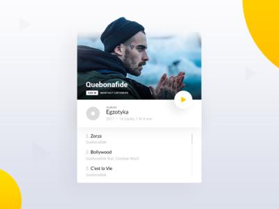 🎵Music Player App [Concept] web app ios app sound quebonafide ui player yellow gradients minimal minimalistic app music