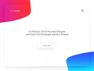 🏀 Personal site v2 shapes gradients header webdesign web ux ui portfolio personal minimalistic minimal design