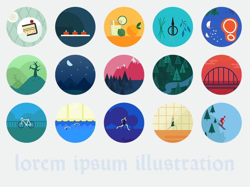Lorem ipsum illustration open source library illustration github mit licence