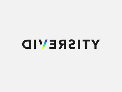 Diversity diversity typography logo