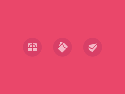 Pink gifts android iconography