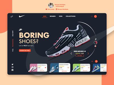 Nike Online Shoe Store nike website nike shoe online store shoe fashion website ui uidesign design