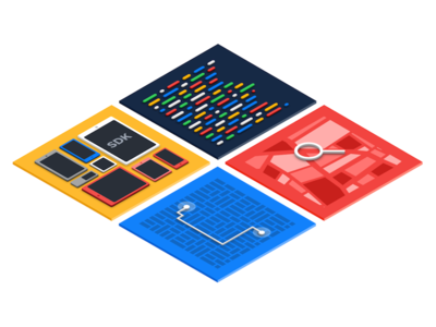 Illustration for CARTO isometric routing sdk platform code illustration carto engine carto