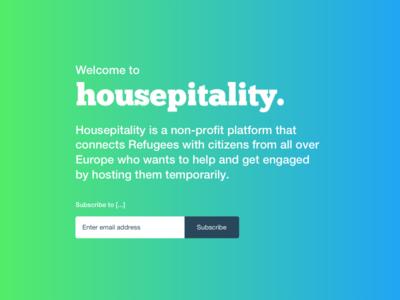Housepitality splash screen splash side project refugees syrian refugees syria hospitality housepitality