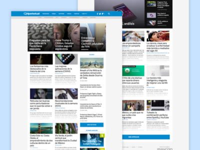Hipertextual's Homepage feature posts posts related articles articles online media editorial design homepage hipertextual