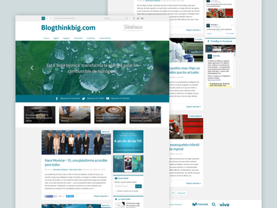Telefónica - Think Big's Homepage related articles posts online media telefónica think big editorial design corporate blog blog articles
