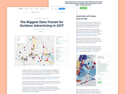 CARTO Blog - Feature Post editorial design web design post maps location jekyll gis cartodb carto blog article