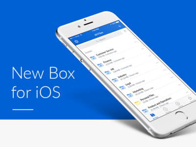 Box for iOS redesign share sync folders files mobile ios sharing box