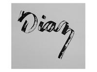 hand-lettered logo
