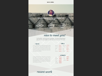 site layout/wireframe