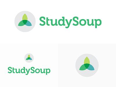 StudySoup Logo and Icon design on white flat-design icon branding logo studysoup