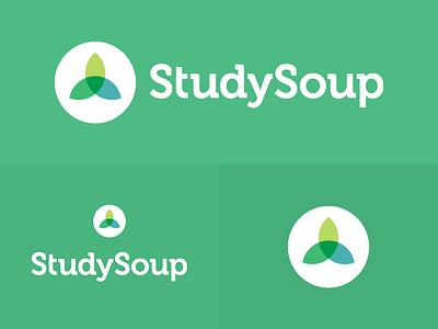 StudySoup Logo and Icon design on green flat-design icon branding logo studysoup