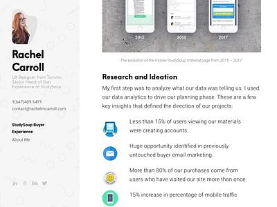 See what im working on at https://rachelmcarroll.com/ portfolio design strategy ux  ui ux