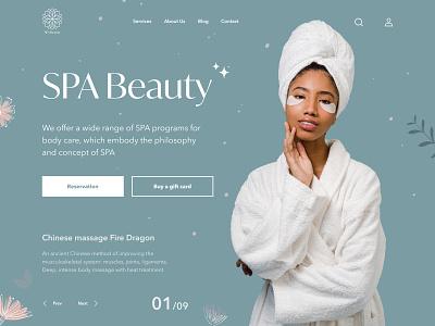 SPA salon beauty webdesign mainpage main spa ui design uiux