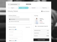 Fashion Website - Desktop Checkout