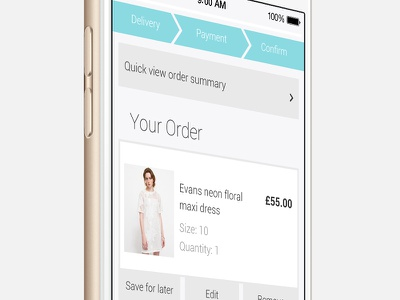 Fashion Mobile App style product view store website ui ux shop ecommerce fashion