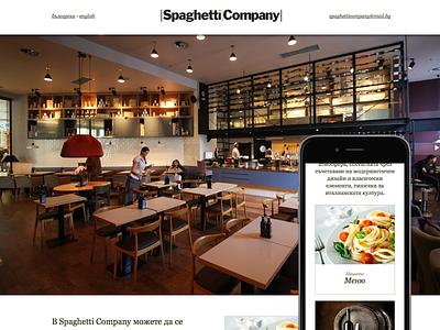 Spaghetti Company web design restaurant responsive css3 html5