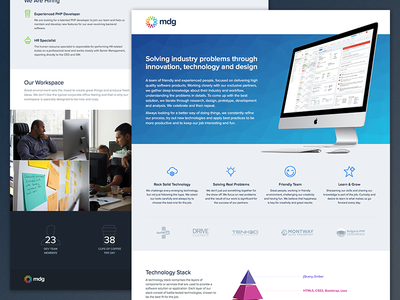 MDG mobile one page logo responsive css ui web