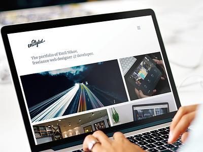 enStyled 2016 web simple responsive css html ui design portfolio