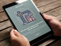 Iconfinder API landing page