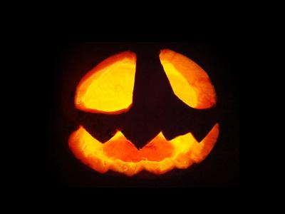 Halloween halloween pumpkin face photo handmade