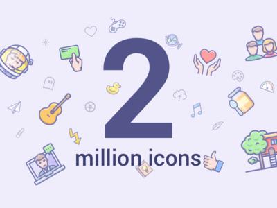 2 million icons landing page