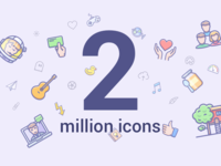 2 million icons landing page