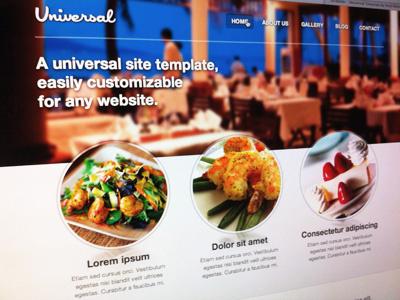 Universal - Restaurant css3 html5 responsive template universal restaurant themeforest