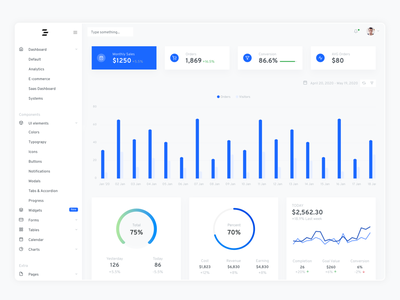 Tinydash - Clean Bootstrap Admin Template template design bootstrap dashboard ui admin template