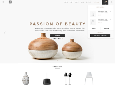 Chameleon Shop PSD Template woo commerce interior shop design premium psd e-commerce
