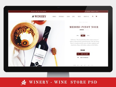 Winery - Wine Store PSD Template wine store design wine template wine psd wine store wine