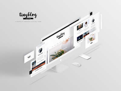 Tiny Blog Presentation wordpress theme mockup presentation blog theme presentation blog theme