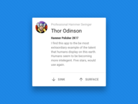 #dailyui #039 - Testimonial Reviewer