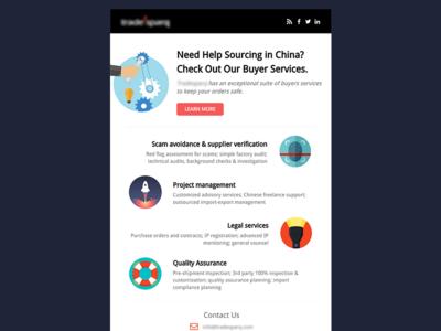 Newsletter/Email Design template marketing newsletter email
