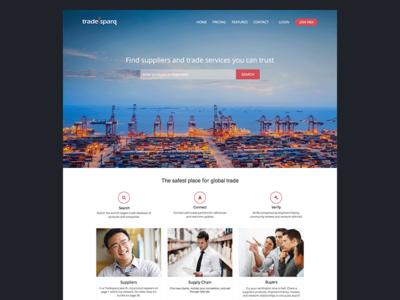 Homepage Redesign clean landing homepage design