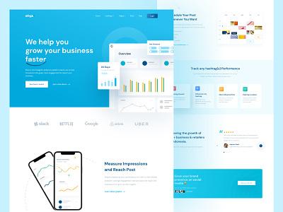Agency SAAS Landing Page saas tools instagram figma illustration daily ui ui design landing page agency sass