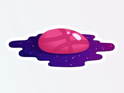 Eggspace universe egg ball dribbble sticker constellation galaxy star planet cosmos space illustration