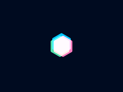 Radruga Logo blend blue green red rgb rainbow flat concept logomark logotype logo