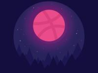 Dribbble Moon