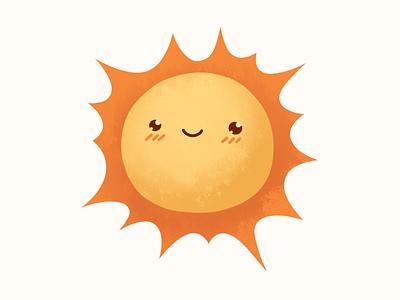 Sun sky social illustration sticker sun character smile emotion design telegram