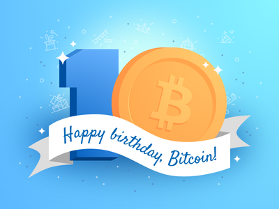 10 years of Bitcoin icon party typography bright coin birthday design bitcoin 3d years ten 10 illustration